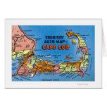 Mapa auto detallado de Cape Cod Tarjetón
