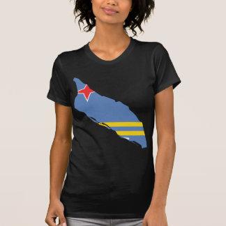 Mapa AW de Aruba Camisetas