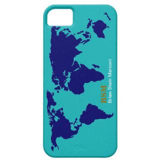 mapa azul de encargo iPhone 5 carcasas