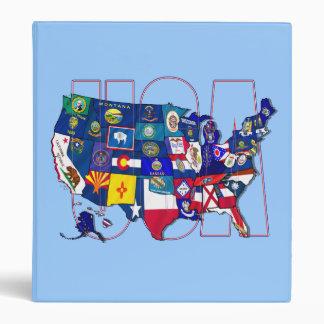 Mapa azul de la bandera del estado de los E E U U