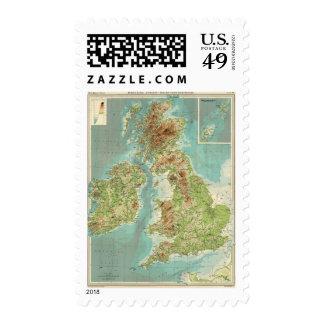 Mapa bathyorographical de las islas británicas sellos