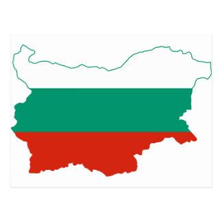 Mapa BG de la bandera de Bulgaria Tarjetas Postales