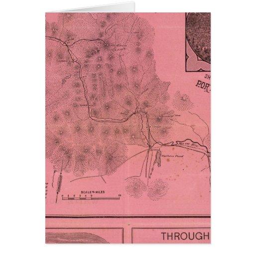 Mapa blanco del top de las montañas tarjetón