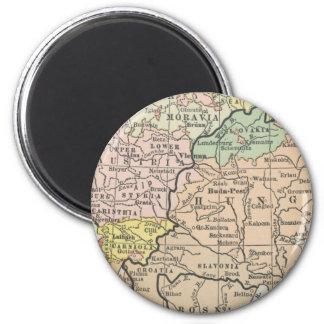 Mapa Bohemia Moravia Hungría Austria del vintage Imán Para Frigorifico
