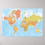 Mapa brillante del mundo