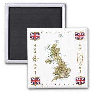 Mapa BRITÁNICO + Imán de las banderas