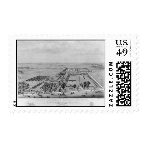 Mapa-Campo Douglas del Franqueo-Vintage Sellos Postales