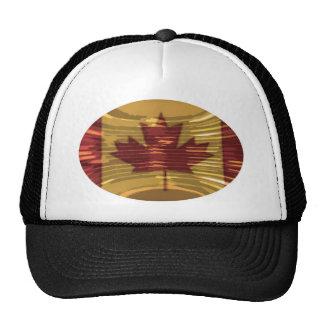 Mapa canadiense artístico y MapleLeaf Gorras De Camionero