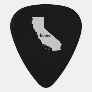 Mapa casero del estado de la silueta de California Plumilla De Guitarra