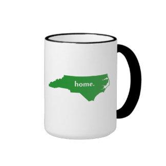 Mapa casero del estado de la silueta de Carolina Taza A Dos Colores