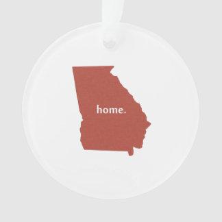 Mapa casero del estado de la silueta de Georgia