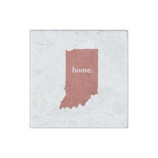 Mapa casero del estado de la silueta de Indiana Imán De Piedra