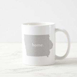 Mapa casero del estado de la silueta de Iowa Taza De Café