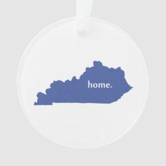 Mapa casero del estado de la silueta de Kentucky