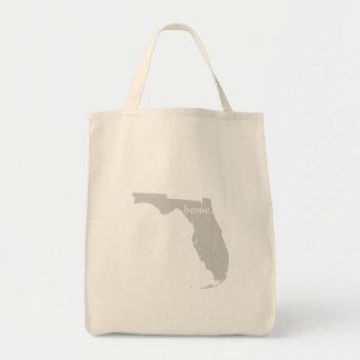 Mapa casero del estado de la silueta de la Florida