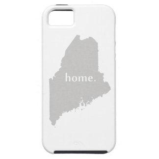 Mapa casero del estado de la silueta de Maine iPhone 5 Carcasa