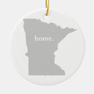Mapa casero del estado de la silueta de Minnesota Ornamento Para Reyes Magos