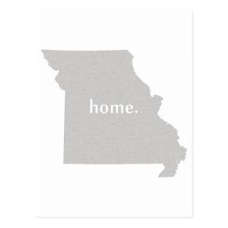 Mapa casero del estado de la silueta de Missouri Postal