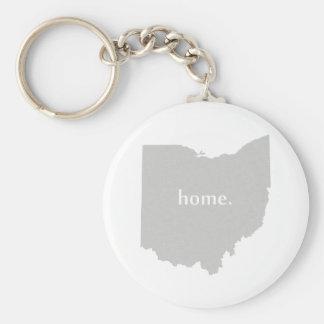 Mapa casero del estado de la silueta de Ohio