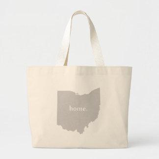 Mapa casero del estado de la silueta de Ohio Bolsa Tela Grande