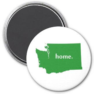Mapa casero del estado de la silueta de Washington Imanes