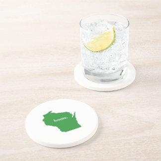 Mapa casero del estado de la silueta de Wisconsin Posavasos Para Bebidas