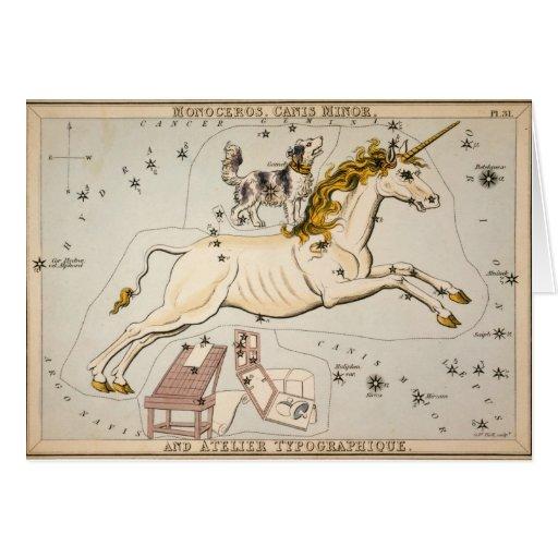 Mapa celestial del vintage tarjeta de felicitación