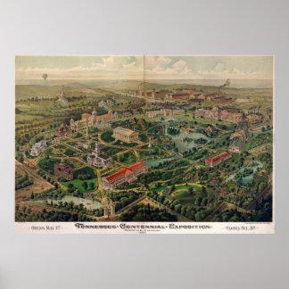 Mapa centenario del parque de Nashville del Póster