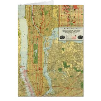 Mapa central 1918 del ferrocarril de Nueva York Tarjeta De Felicitación