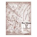 Mapa céntrico 1920 de New Orleans del vintage Postales
