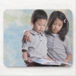 Mapa cercano coreano del libro de lectura de los mouse pads