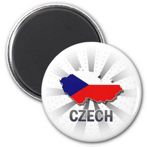 Mapa checo 2,0 de la bandera imán