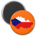 Mapa checo de la bandera iman
