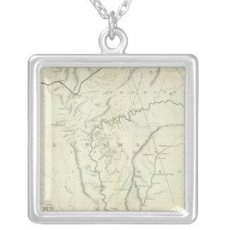 Mapa cherokee colgante cuadrado