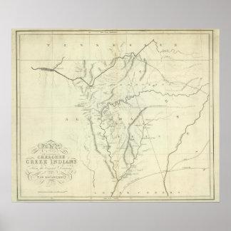 Mapa cherokee posters