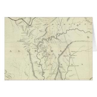 Mapa cherokee tarjeta de felicitación
