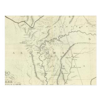 Mapa cherokee postales