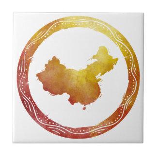 Mapa China Azulejo Cuadrado Pequeño