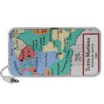 Mapa circa 1260 altavoces de viajar