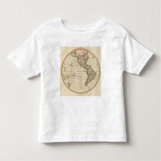Mapa circular del hemisferio occidental t-shirts