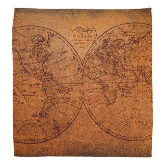 Mapa clásico del viaje del Viejo Mundo del vintage Bandanas