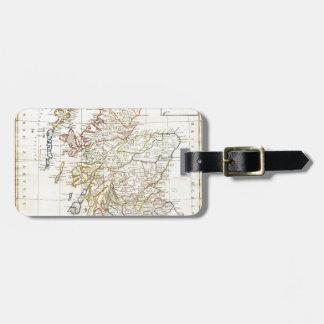 Mapa clemente de 1799 Cruttwell de Escocia Etiquetas Maletas