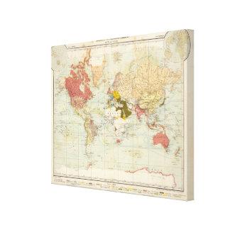 Mapa colonial del atlas de Handels Impresion De Lienzo
