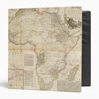 """Mapa coloreado de la mano compuesta de África Carpeta 1 1/2"""""""