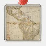 Mapa coloreado de la mano compuesta de América Adornos