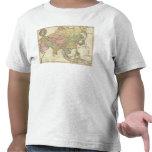 Mapa coloreado de la mano de Asia Camiseta