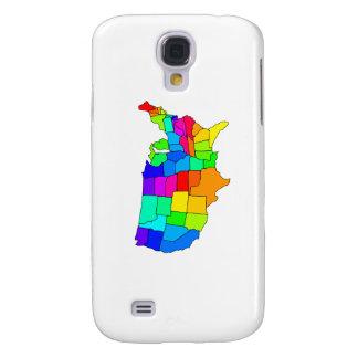 Mapa colorido de los Estados Unidos de América Carcasa Para Galaxy S4