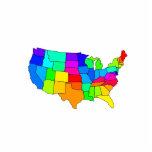 Mapa colorido de los Estados Unidos de América Esculturas Fotográficas