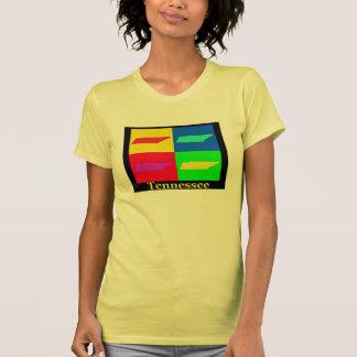 Mapa colorido del arte pop de Tennessee Camiseta