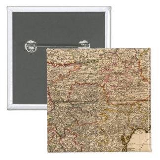 Mapa compuesto de acuerdos franceses pin cuadrado